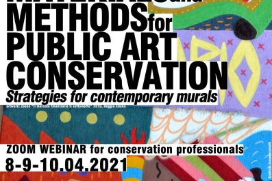 """Webinar """"Materials and Methods for Public Art Conservation. Strategies for contemporary murals"""""""