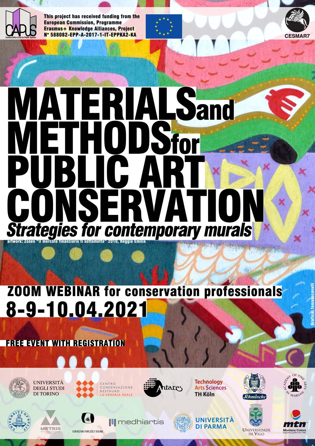 "Webinar ""Materials and Methods for Public Art Conservation. Strategies for contemporary murals"""