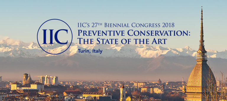 Poster presentation at the International Institute for Conservation (IIC) Congress in Turin, Italy