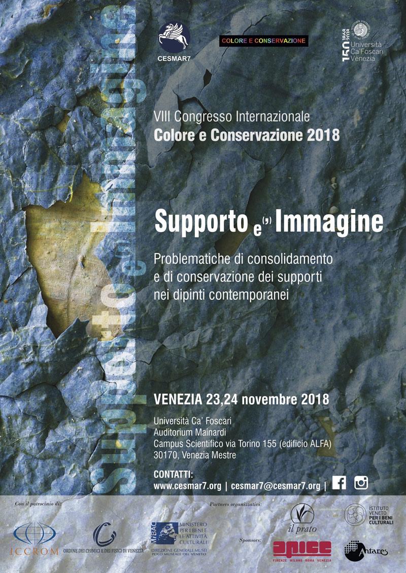 International Congress 'Colore e Conservazione 2018 - Support (the) Image'