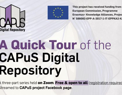 A Quick Tour of the CAPuS Digital Repository: a three-part Zoom event series